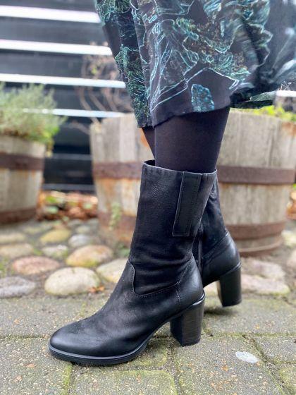 MJUS støvle 210207, sort nubuk