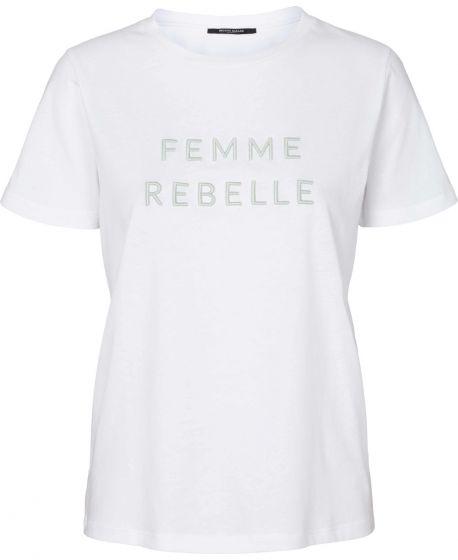 Kally Femme tee - White, Bruuns Bazaar