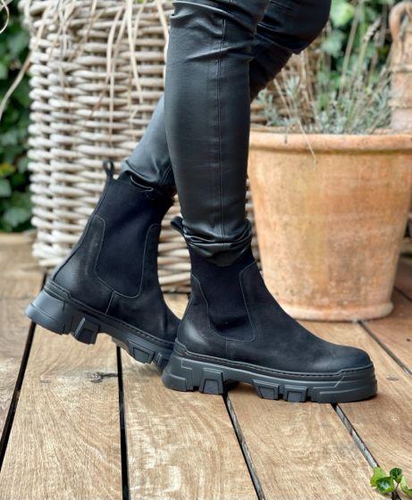 Italienske Chelsea boots, NoClaim, Black