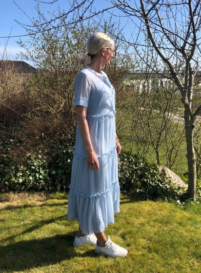 MARIE SILJE DRESS, Bruuns Bazaar, Blue Mist