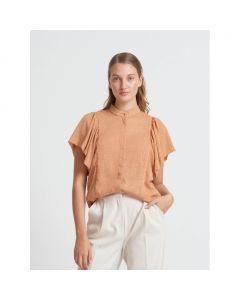 Marigold Ocatavia shirt, Bruuns Bazaar, Gold Sand
