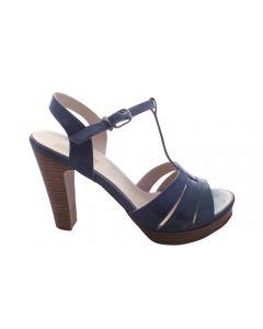 Plateau sandal i flot blå farve