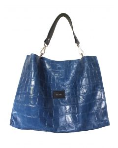 Italiensk shoppingbag, blue jeans