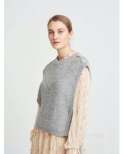 Parisa Regiza knit vest, Bruuns Bazaar, Light grey mel
