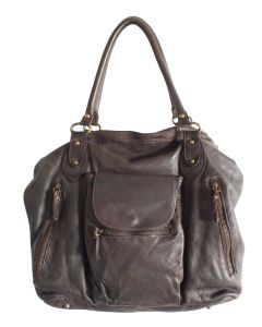 Unika taske Carla Big Dark Brown