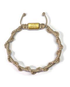 BEIGE MANTRA BRACELET, Gold