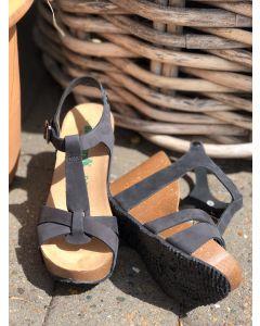 BioNatura sandal, Nabuk sort