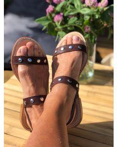 Italiensk sandal fra Alberville, Brun