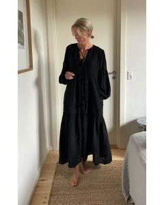 MAXI DRESS, PEARL & CAVIAR, S21P0454, Black
