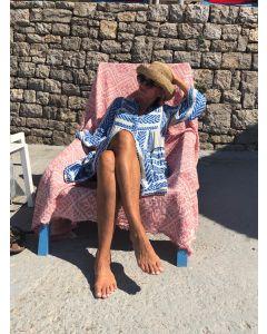 Håndvævede græsk strandhåndklæde, FABSF Coral