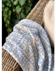 Håndvævede græsk strandhåndklæde, FABSF Blue