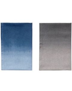 Viskestykker i grå og blå fra Hübsch - sæt m. 2 stk.