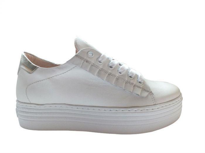 MJUS sneakers, hvid m. sølv