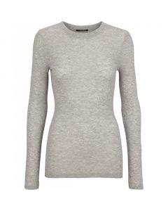 Angela LS T-shirt - Light grey Porpoise