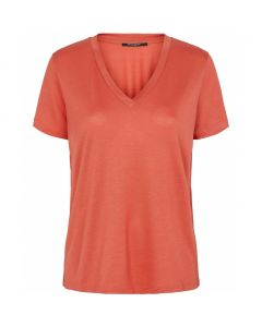 Katka Pollie tee - Poppy Red