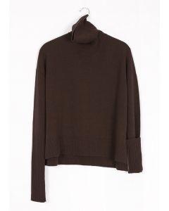 Organic Wool Sweater, Brown