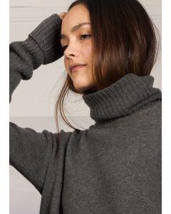 Organic Wool Sweater, Grey Melange