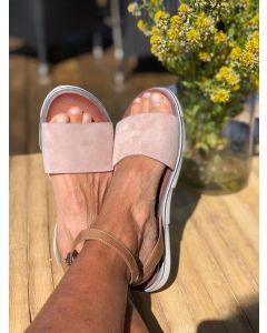 MJUS flad sandal 740029, Perla/sand
