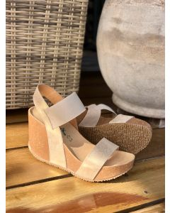 Bionatura sandal, NABUK GLITTER-BEIGE