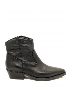Sort cowboy støvle, MJUS
