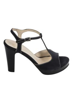 Flot plateau sandal sort
